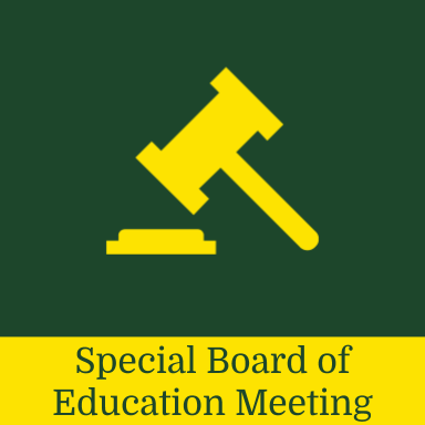 Special Board of Education Meeting Notification