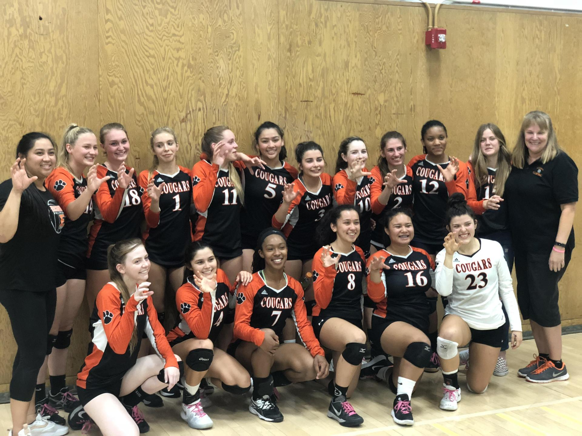 EHS Girls Volleyball at the 2018 CIF playoffs