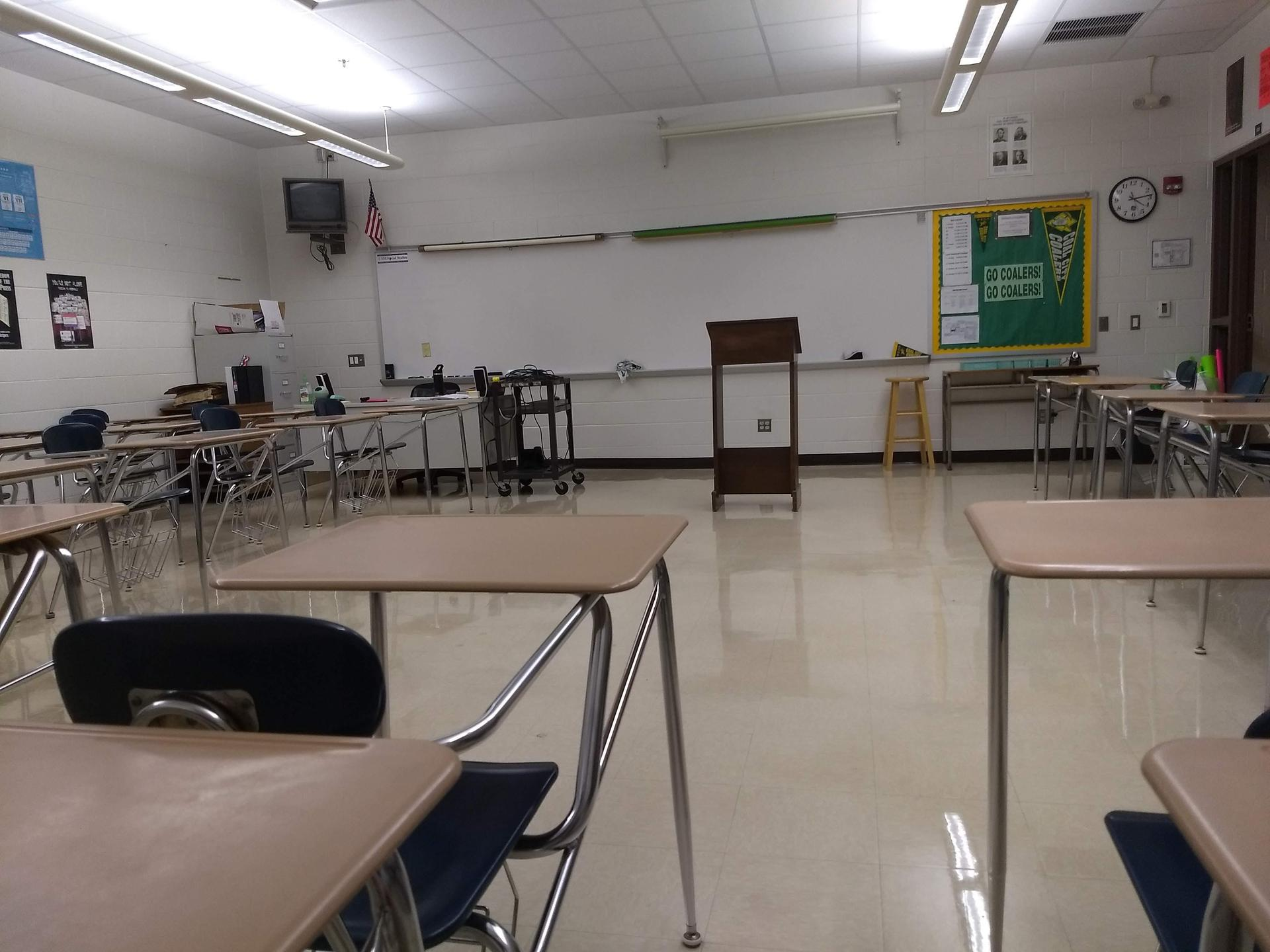 Classroom Desk View