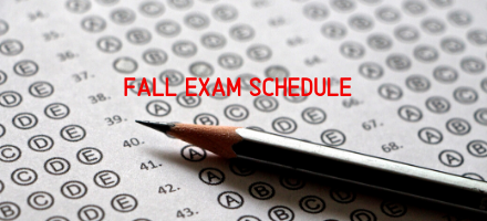 Fall Exam Schedule 2019 Featured Photo
