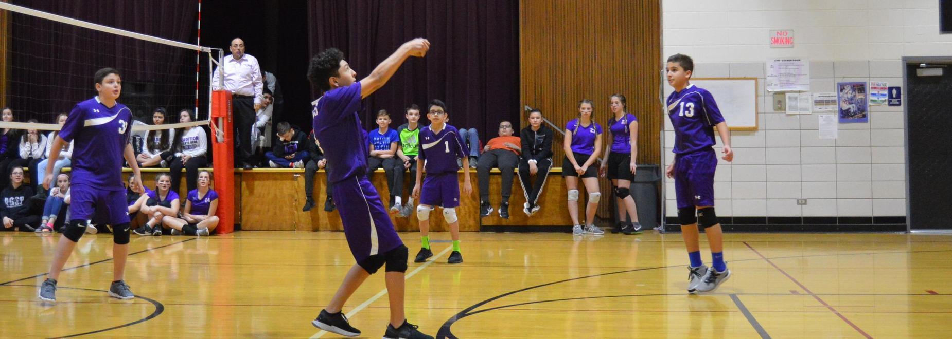 Boys vs. Faculty Volleyball