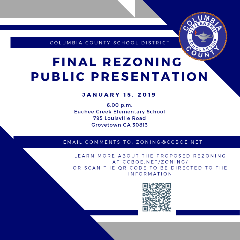 Updated Final Public Presentation Jan. 15, 2019 at Euchee Creek Elementary School