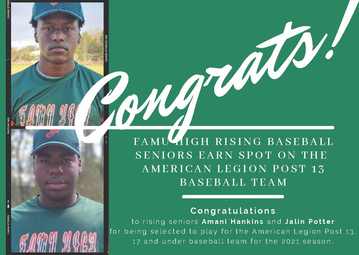 Rising Seniors Selected for League