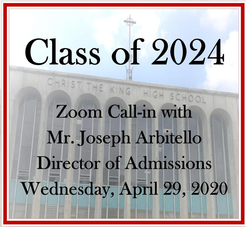 Invite for Incoming Class of 2024 Join Zoom Call-in with Director of Admissions Featured Photo