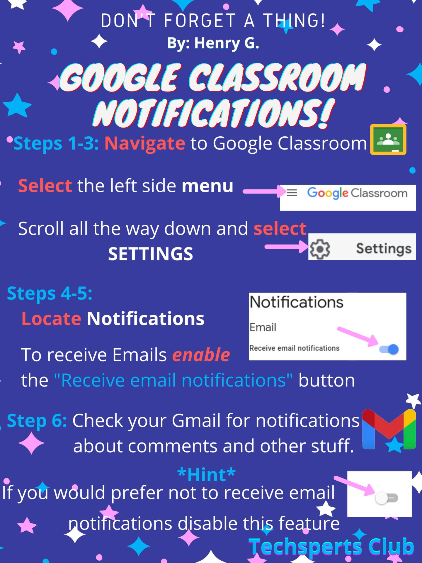 Google Classroom Notifications