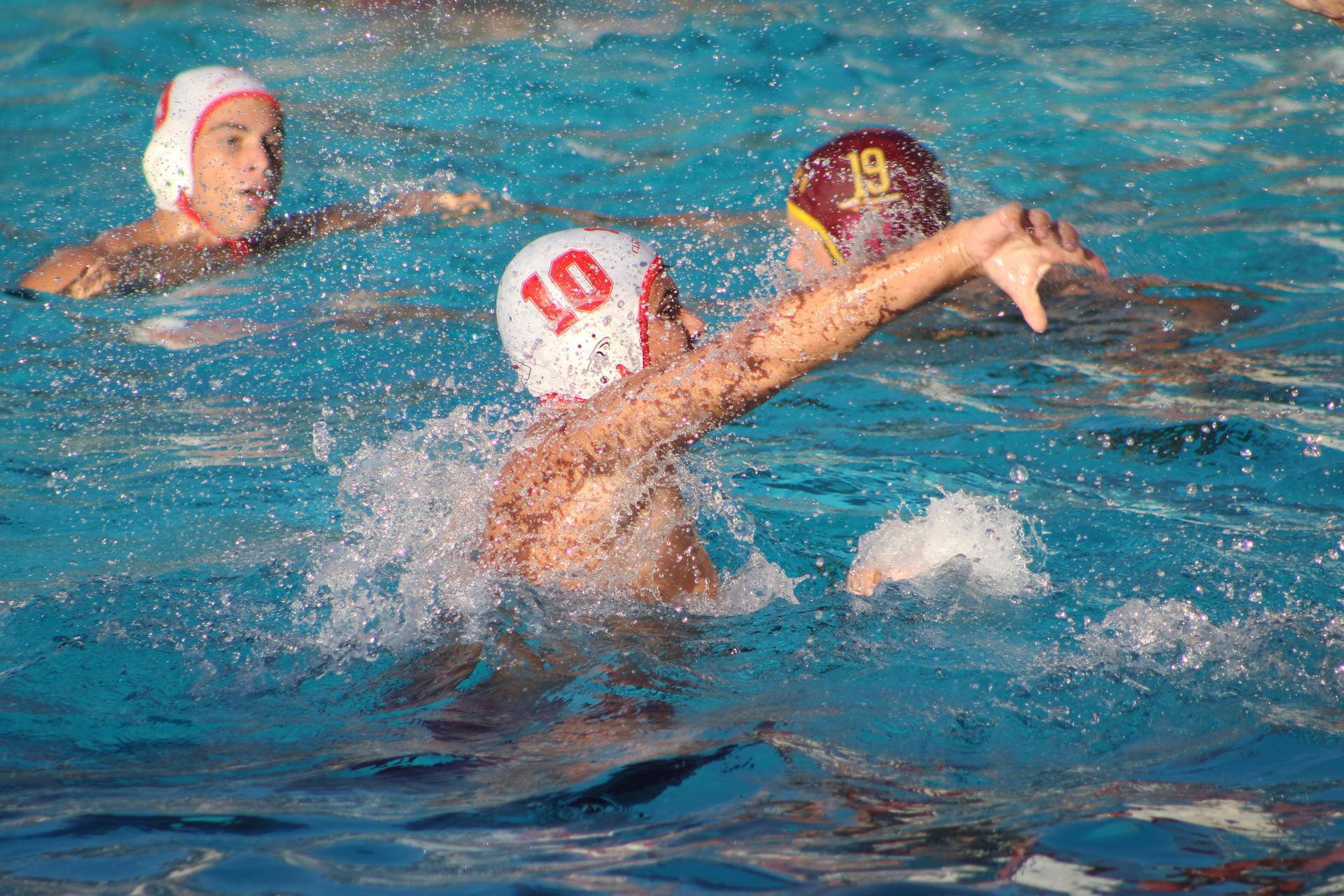 Boys playing water polo at sierra