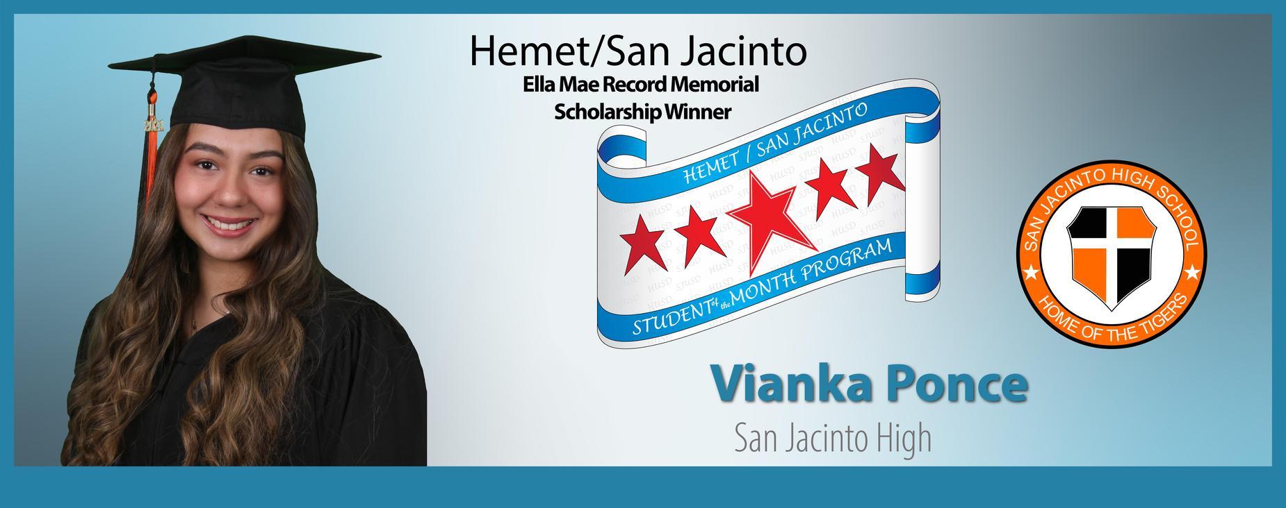 Vianka Ponce Scholarship Winner