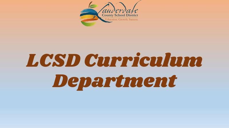 Curriculum Department Graphic