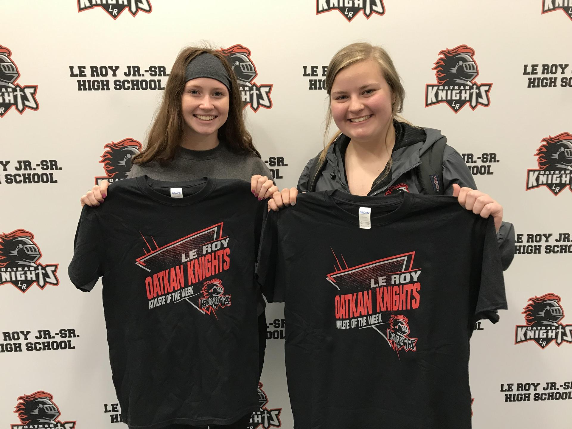 Athletes of the Week - M Cone, M Keaton