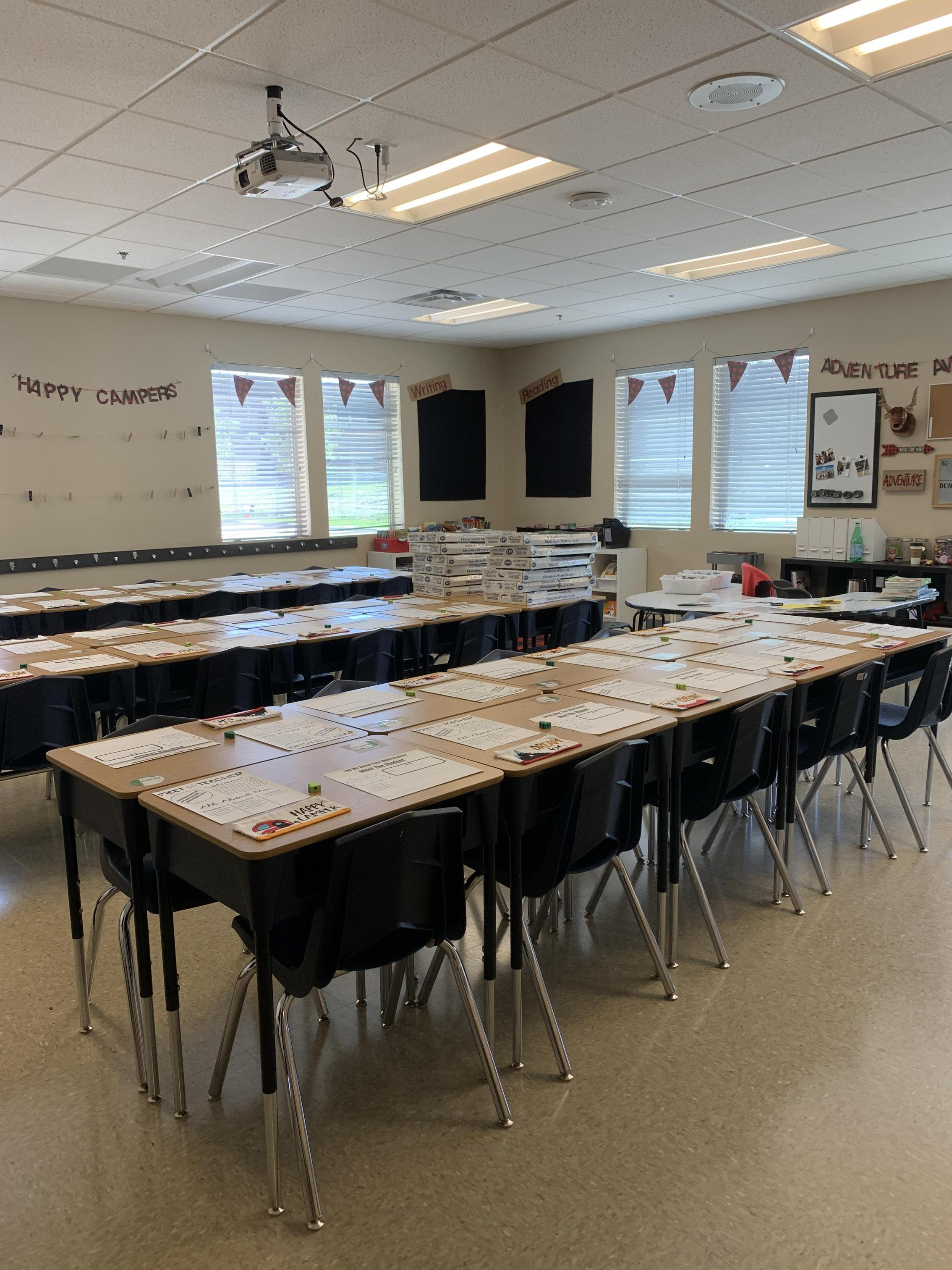 The classroom is ready.