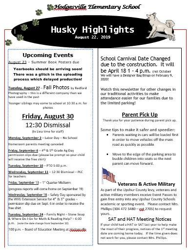 Aug 22 Newsletter