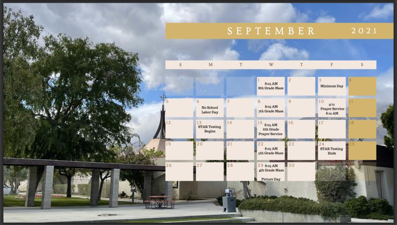 September 2021 Calendar Featured Photo
