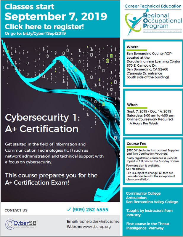 Cybersecurity 1: A+ Certification Thumbnail Image