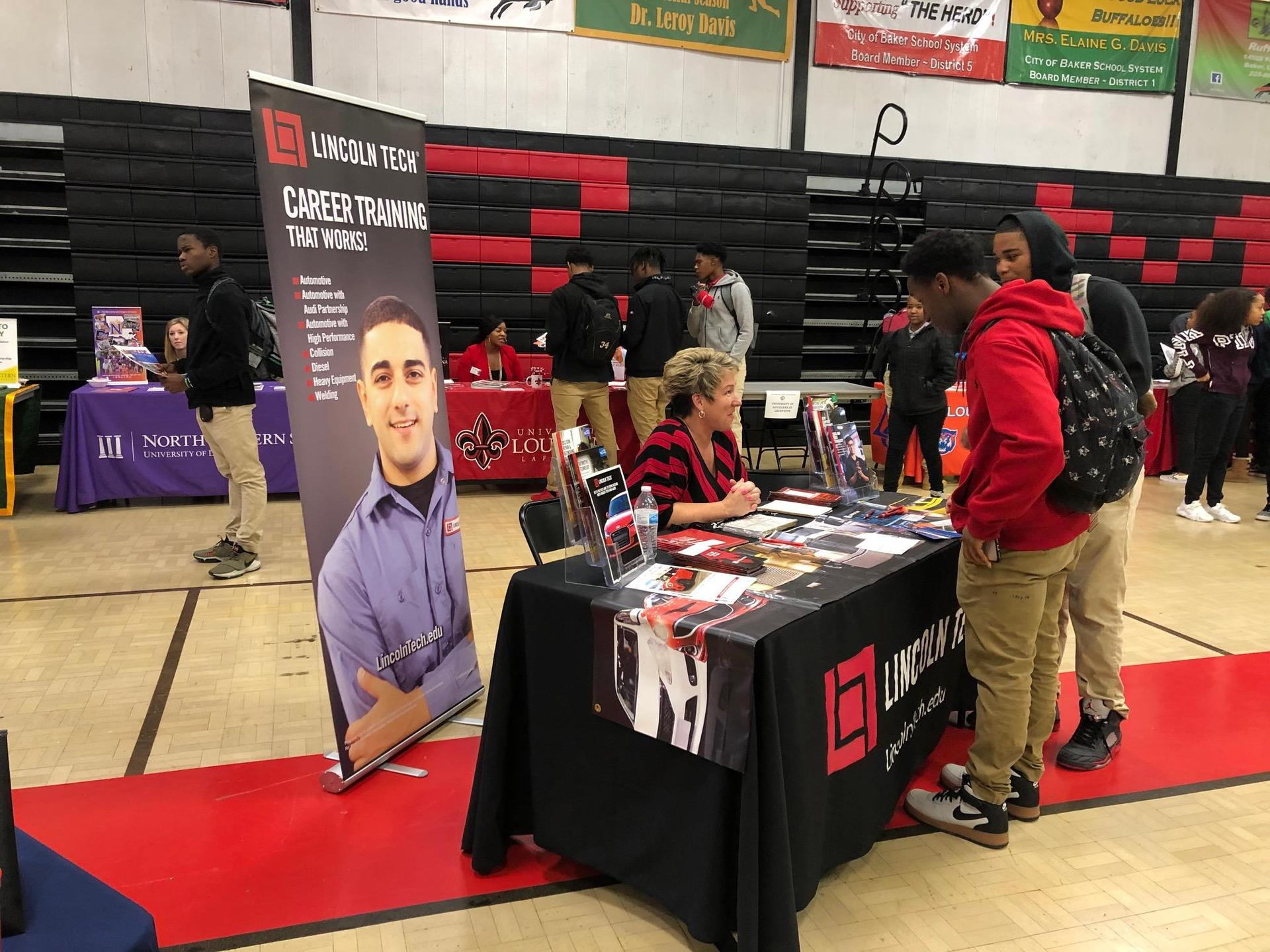a highlights photo of Baker Middle JAG students attending the Baker High College & Career Fair