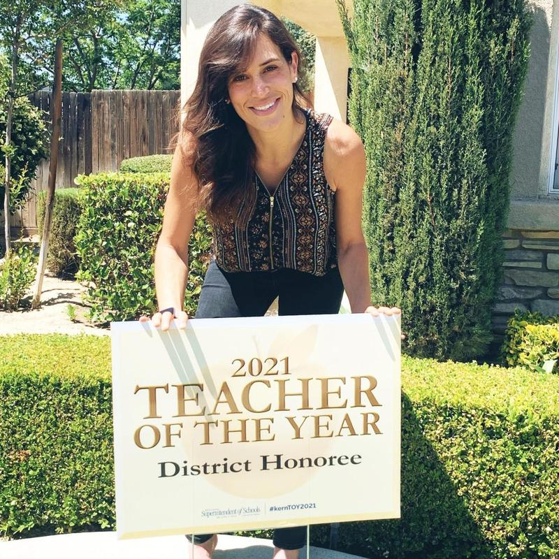 Ms. Jolie Brouttier as Teacher of the Year