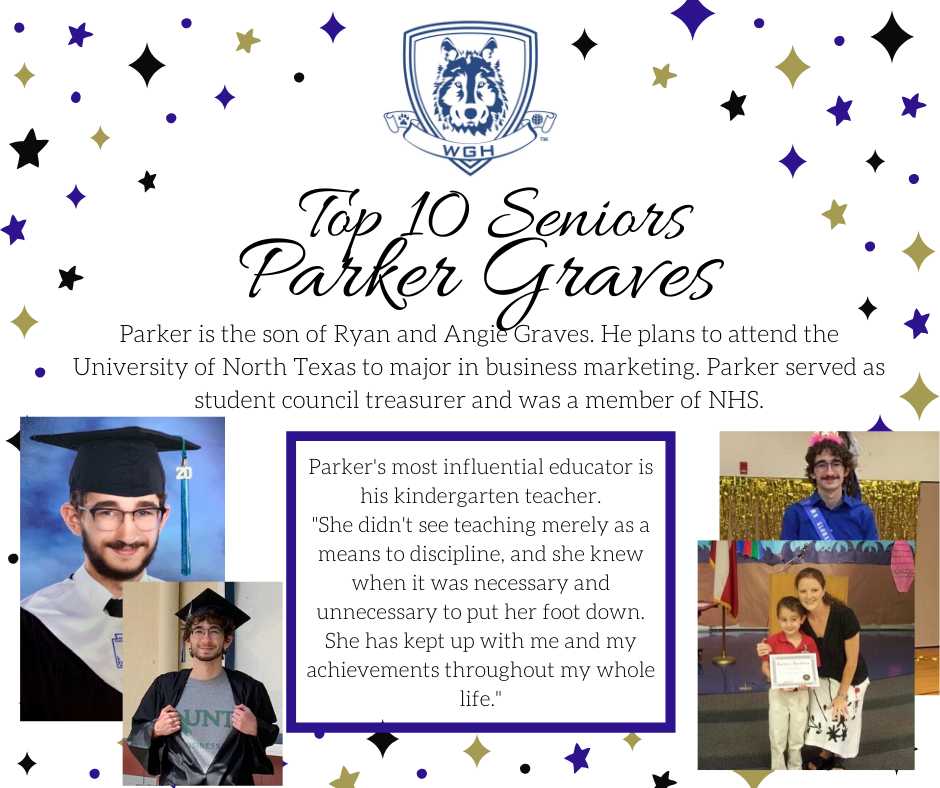 graphic of parker graves