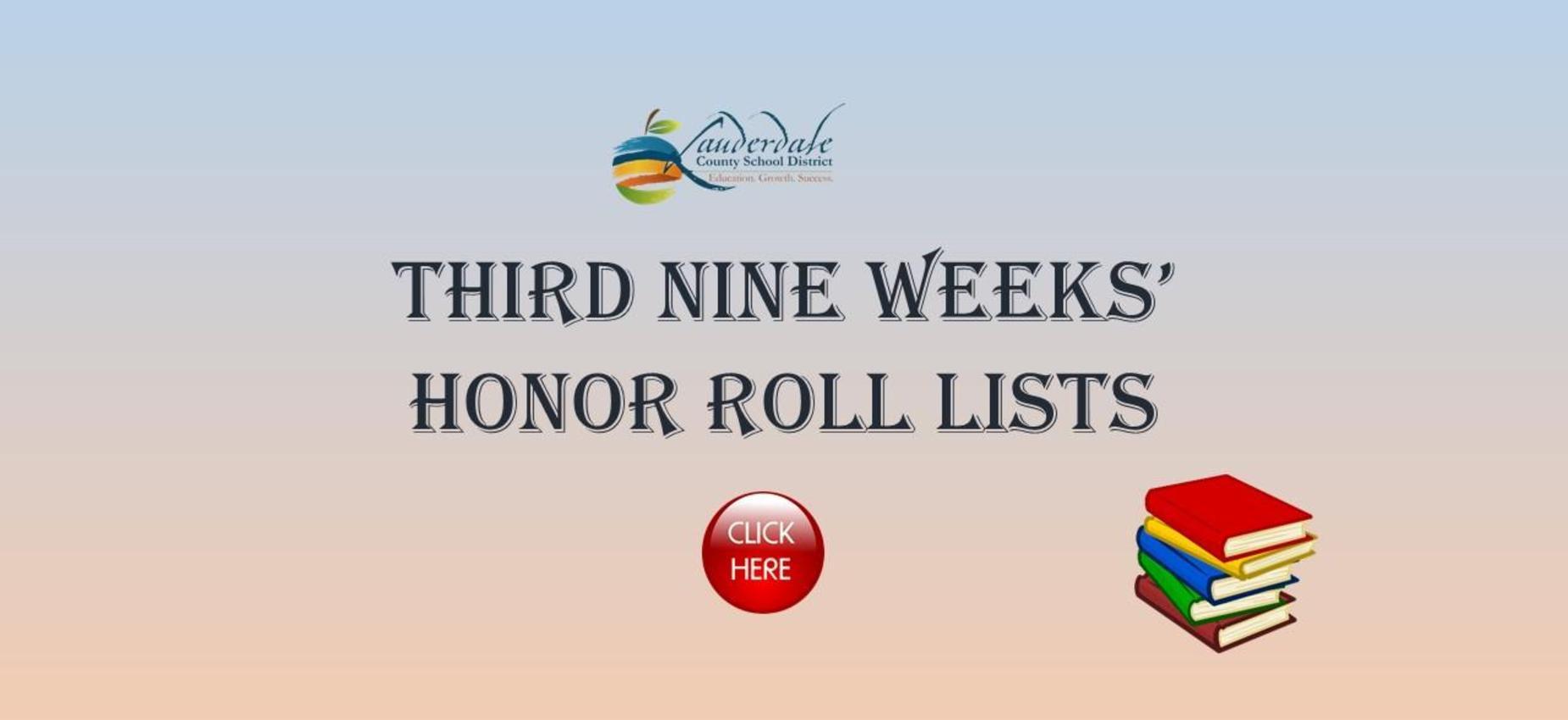 Third Nine Weeks' Honor Roll Lists