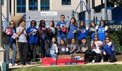 The Brewer Middle School Student Council collected 320 pairs of socks during its first-ever, school-wide SOCKtober Sock Drive. Some of the members delivered the socks to Cook Children's Hospital.
