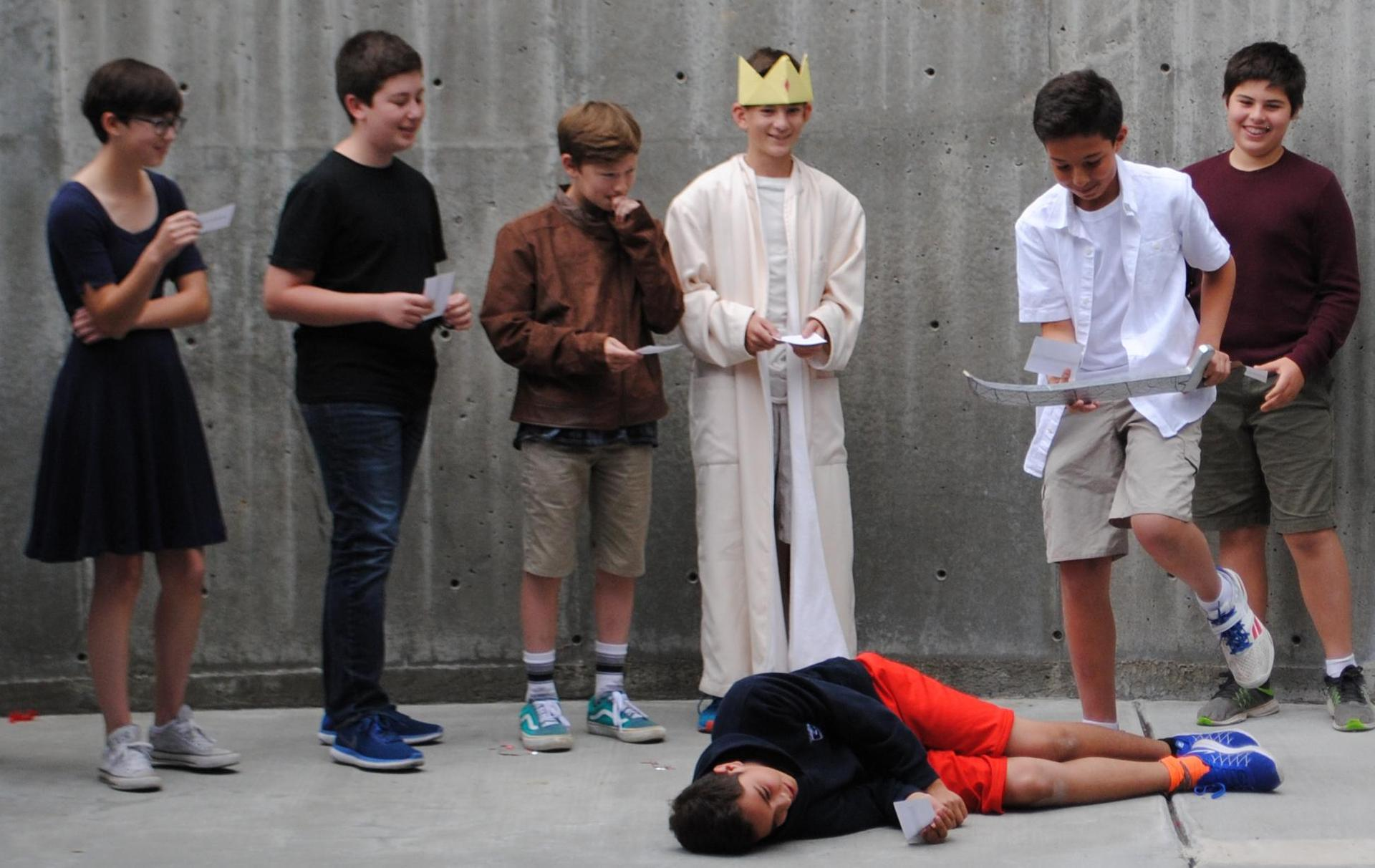shakespeare scene by 8th Graders