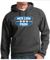 MCS Pride Adult Sweatshirt in Gray with pull strings