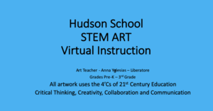 STEM Art title slide