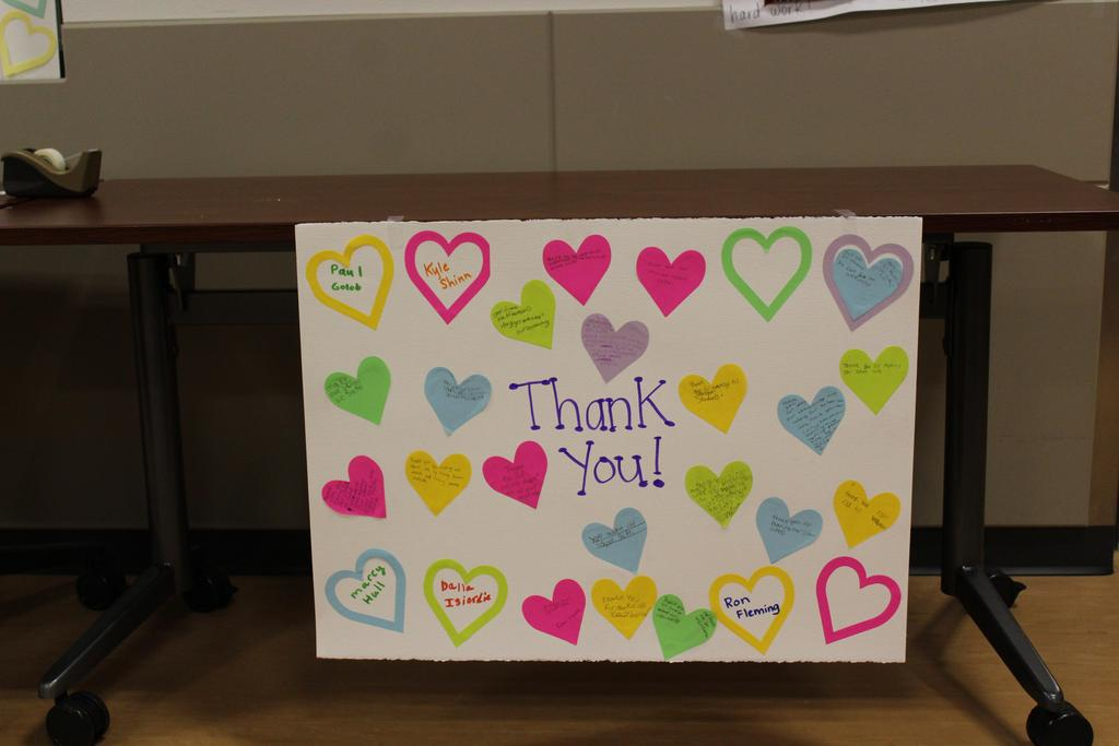 Image of Thank You poster for Board Members