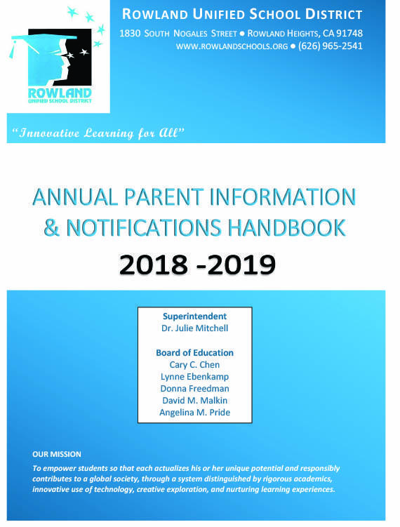 RUSD Parent Handbook and 2018-19 Instructional Calendar Thumbnail Image