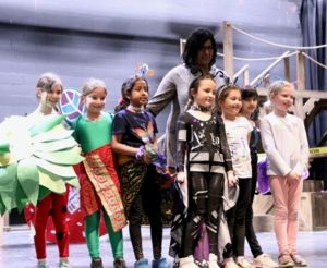 Photo of Westfield elementary students participating in Odyssey of the Mind regional tournament in March.