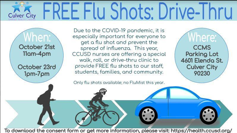 CCUSD Nurses Host Drive-Thru, Walk-Thru Flu Clinic! Thumbnail Image