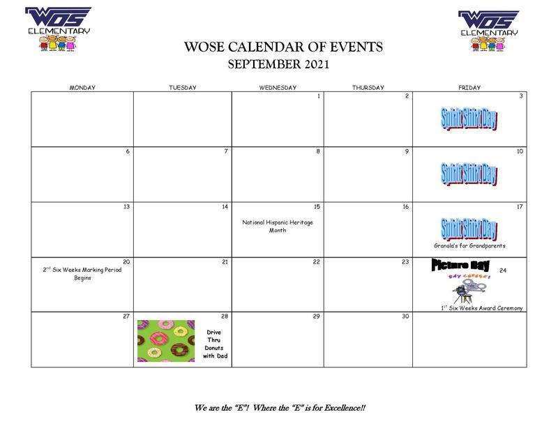WOSE September Calendar of Events