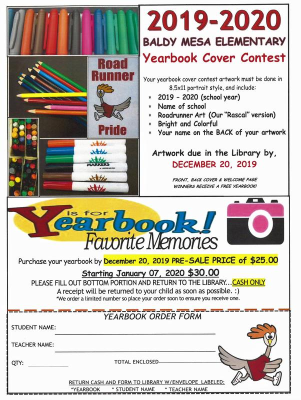 BALDY MESA YEARBOOK PRE-SALE AND YEARBOOK COVER CONTEST Featured Photo