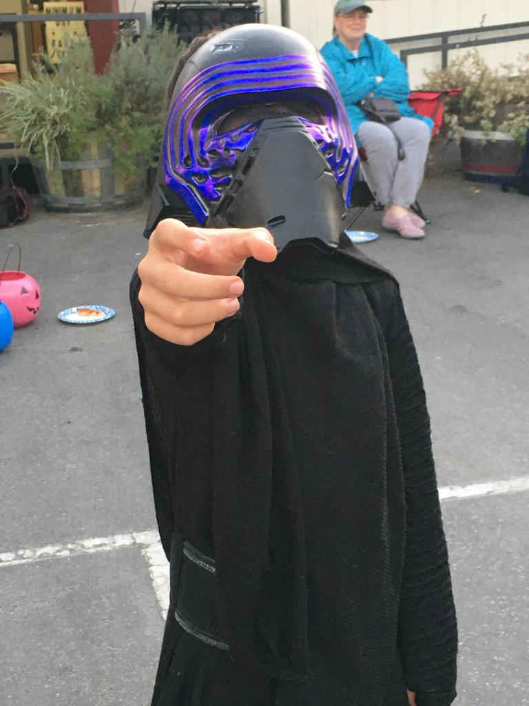 child dressed as star wars character