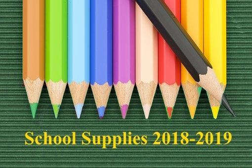 School Supply List 2018-2019 Thumbnail Image