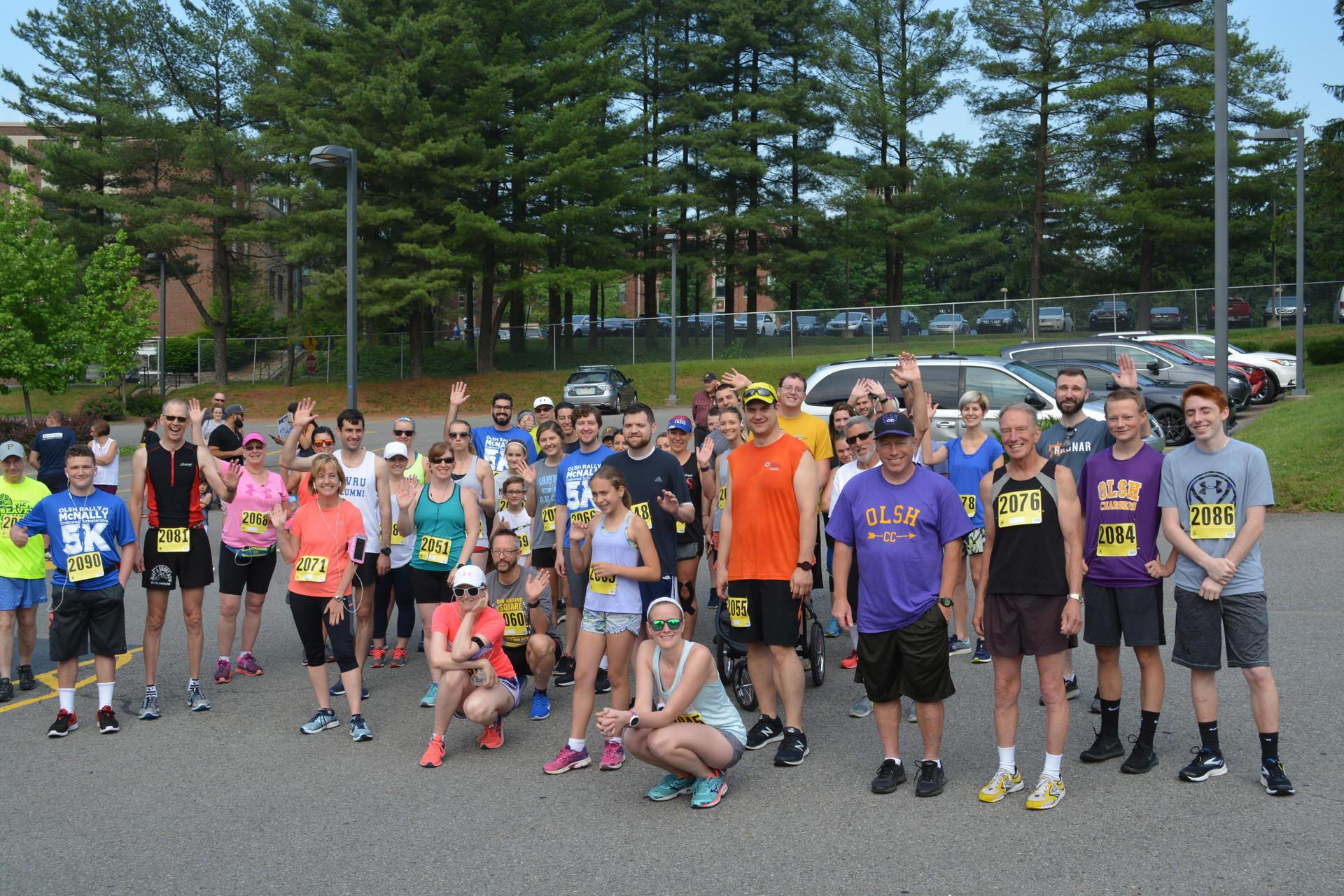 The participants in the 2018 Rally for McNally 5K race before the start