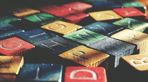 colored scrabble tiles