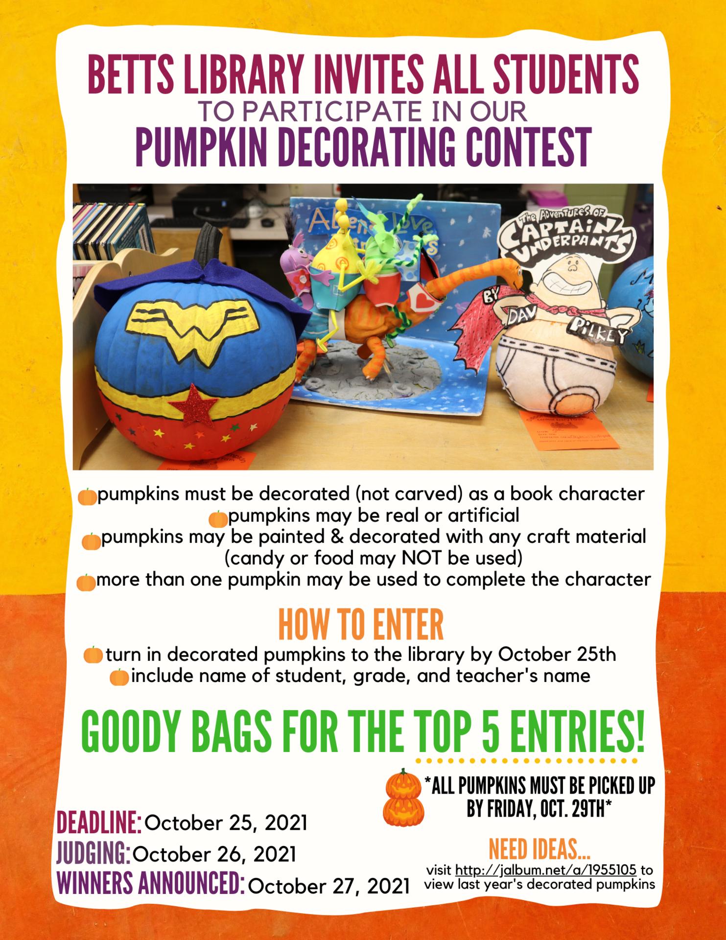 Image of pumpkin contest flyer