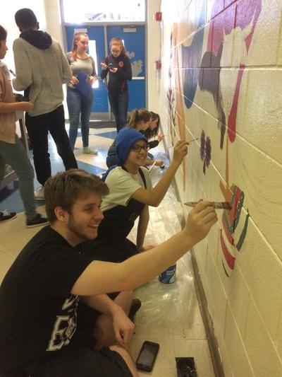 Art Club painting mural