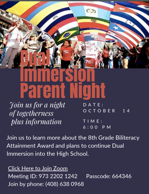Dual Immersion Parent Night Eng