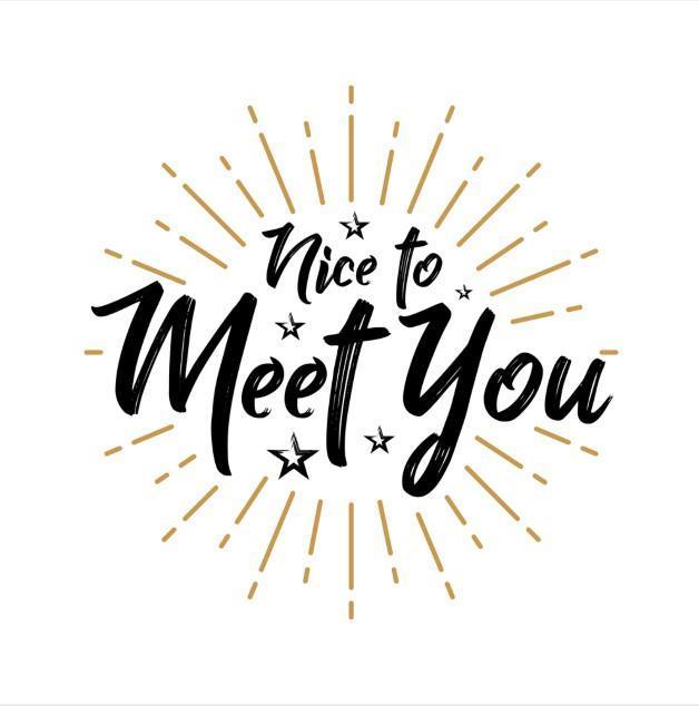 nice to meet you sign