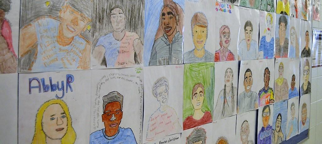 James Hart students' self-portraits