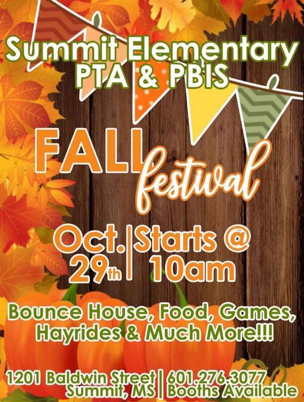 Summit Elementary PTA & PBIS Fall Festival 2021