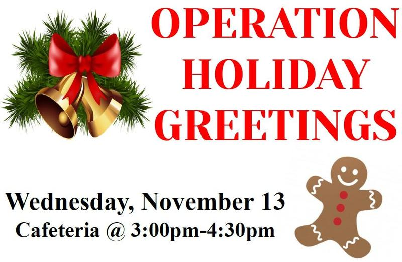 Help send holiday greetings and care packages to deployed military! Featured Photo