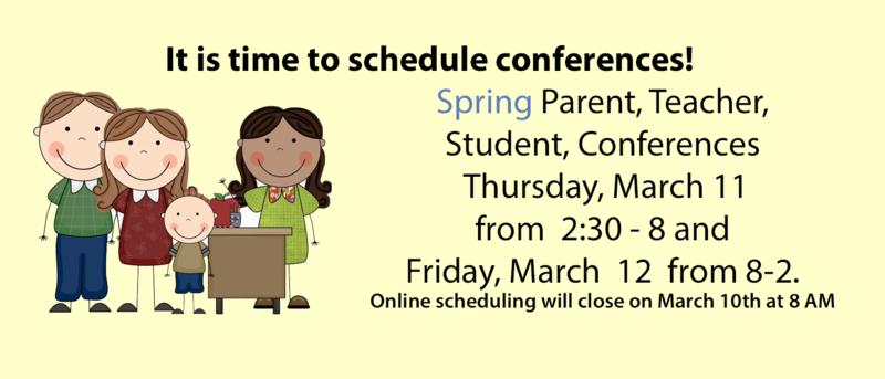 It is time to schedule student-parent-teacher conferences! Thumbnail Image