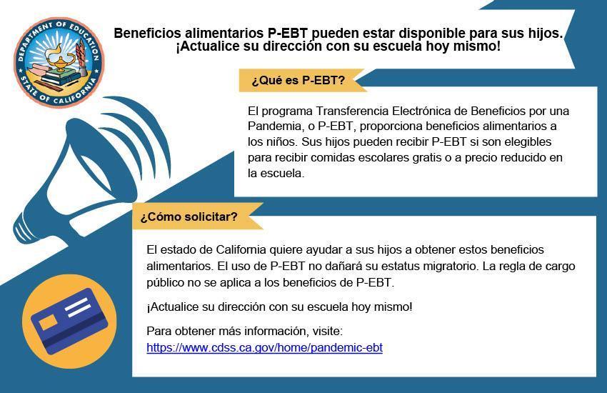 P-EBT parent Spanish