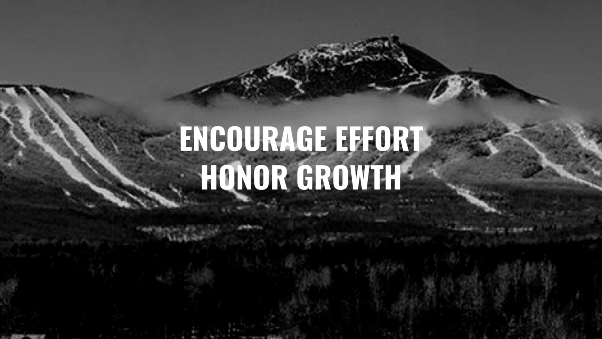 Encourage effort, honor growth
