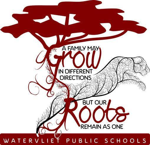 Graphic:  A Family May Grow in Different Directions but our Roots Remain as One.  Watervliet Public Schools