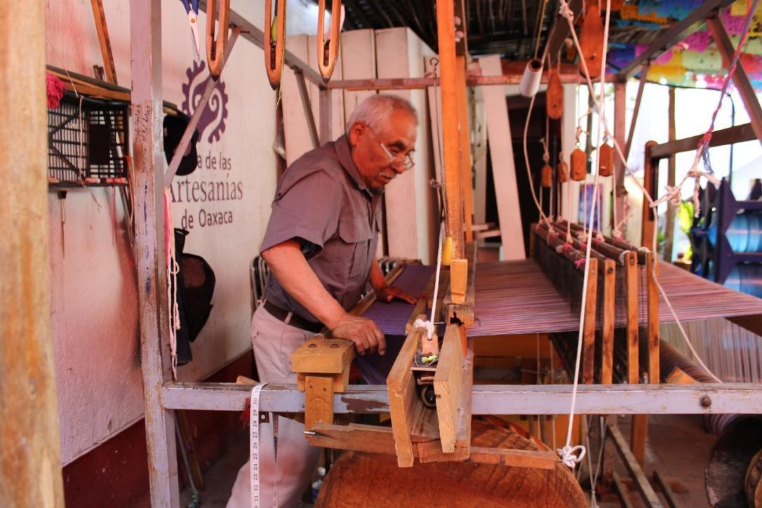 Weaver in Oaxaca Mexico