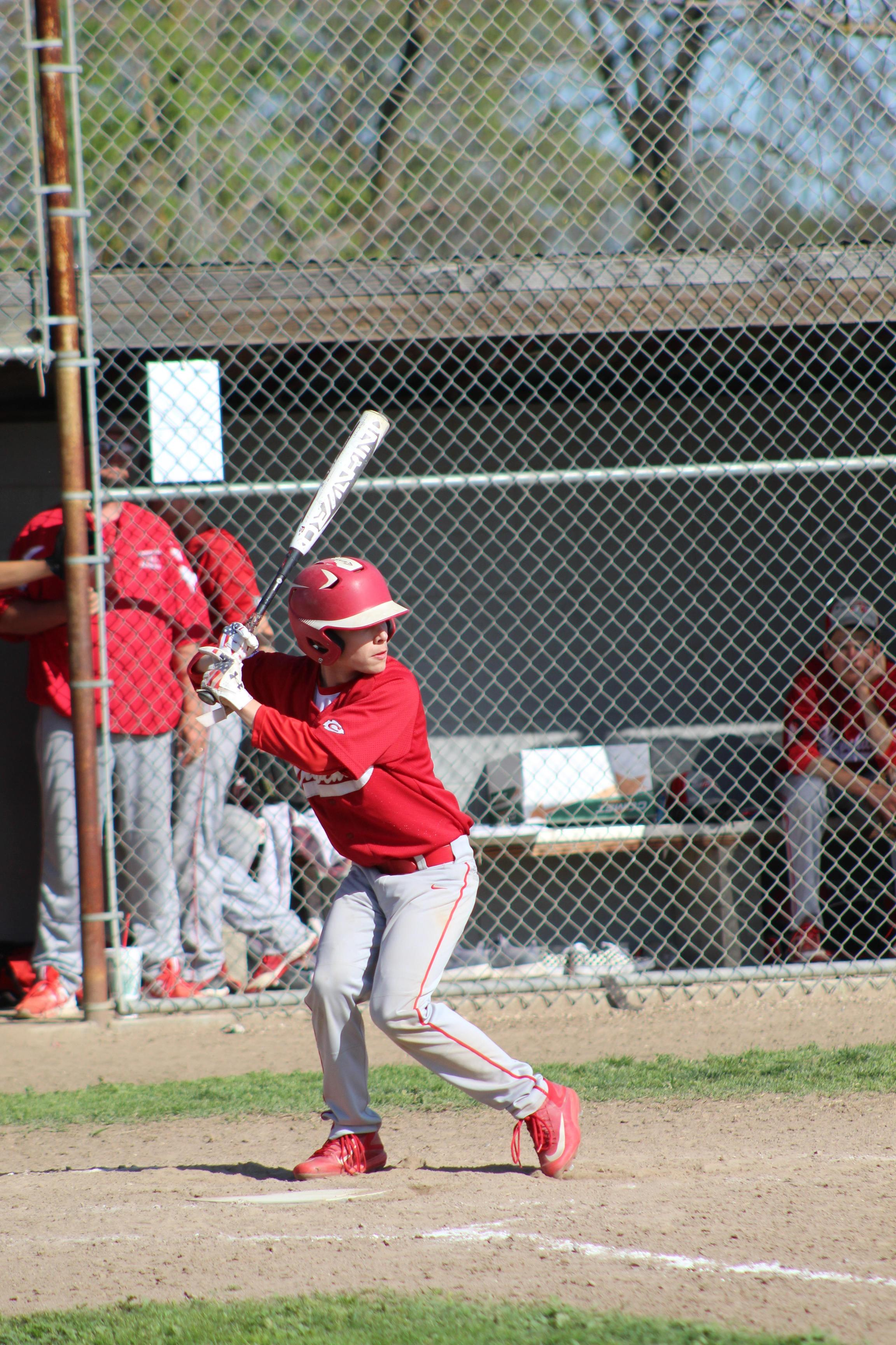 JV Baseball in action against Sierra