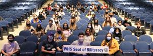 Ninety Westfield High School seniors attained the Seal of Biliteracy, an award granted to students who attain proficiency in two or more languages by high school graduation.