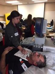 Doing thyroid ultrasound